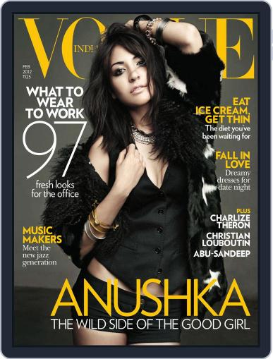 VOGUE India February 1st, 2012 Digital Back Issue Cover