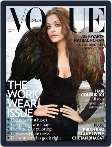 VOGUE India (Digital) February 1st, 2011 Issue Cover