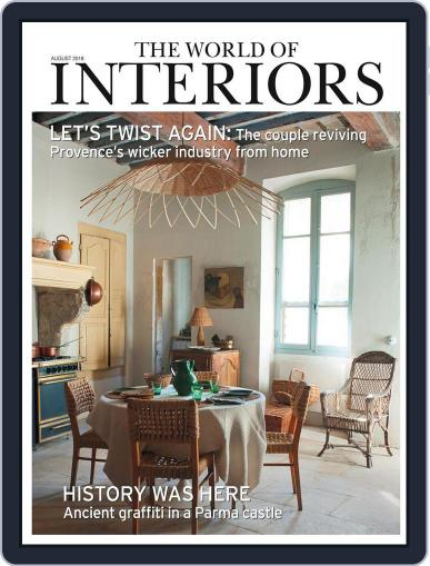 The World of Interiors August 1st, 2018 Digital Back Issue Cover