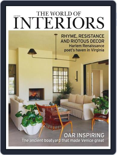 The World of Interiors (Digital) July 1st, 2018 Issue Cover