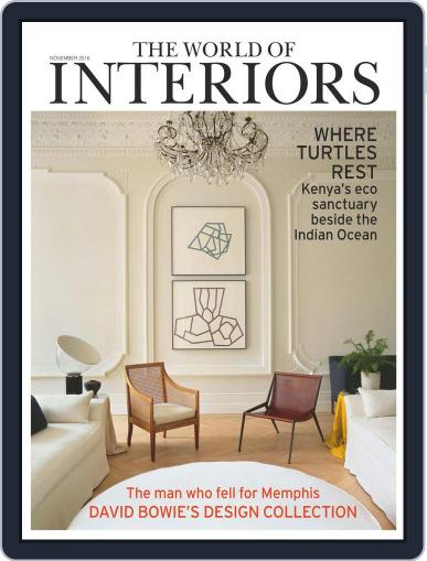 The World of Interiors (Digital) November 1st, 2016 Issue Cover