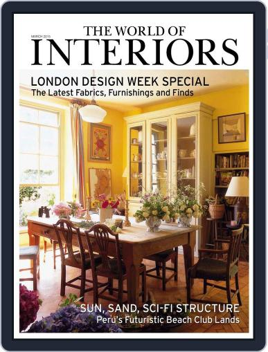 The World of Interiors (Digital) March 1st, 2015 Issue Cover