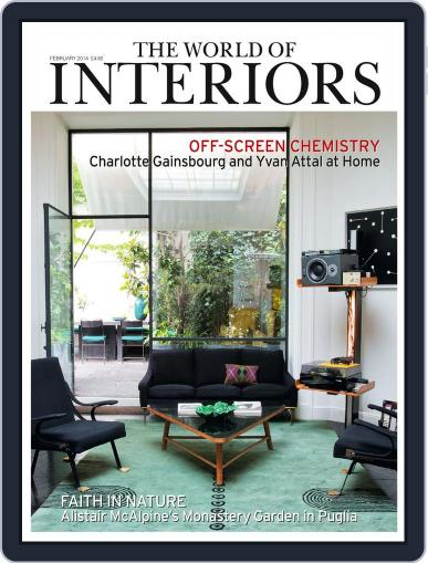 The World of Interiors (Digital) January 1st, 2014 Issue Cover
