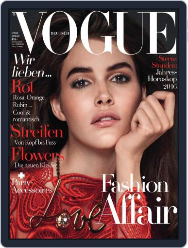 Vogue (D) January 1st, 2016 Digital Back Issue Cover