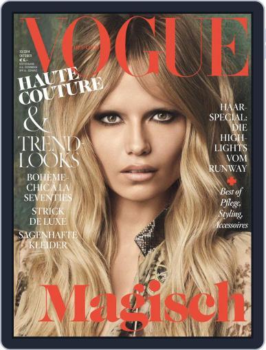 Vogue (D) October 1st, 2014 Digital Back Issue Cover