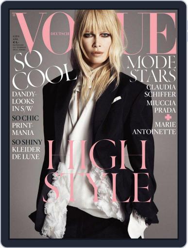 Vogue (D) (Digital) April 1st, 2014 Issue Cover