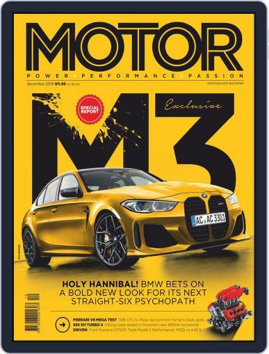Motor Magazine Australia December 1st, 2019 Digital Back Issue Cover