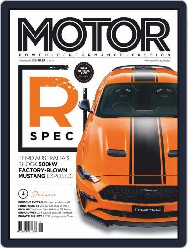Motor Magazine Australia November 1st, 2019 Digital Back Issue Cover