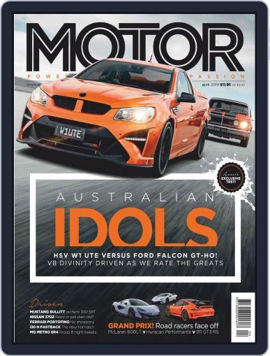 Motor Magazine Australia (Digital) April 1st, 2019 Issue Cover