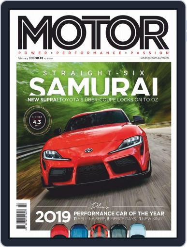 Motor Magazine Australia February 1st, 2019 Digital Back Issue Cover
