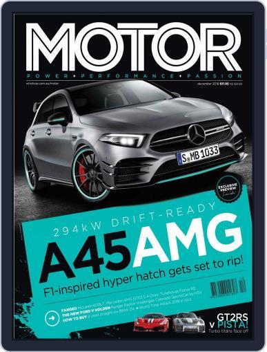 Motor Magazine Australia December 1st, 2018 Digital Back Issue Cover