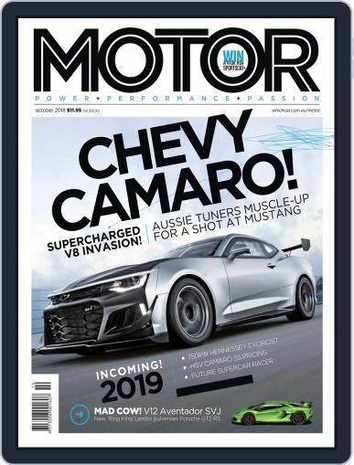 Motor Magazine Australia October 1st, 2018 Digital Back Issue Cover
