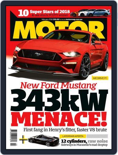 Motor Magazine Australia February 1st, 2018 Digital Back Issue Cover