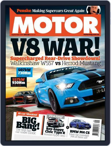Motor Magazine Australia September 1st, 2017 Digital Back Issue Cover