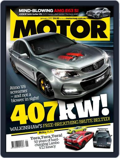 Motor Magazine Australia January 1st, 2017 Digital Back Issue Cover