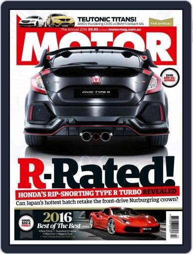 Motor Magazine Australia (Digital) December 15th, 2016 Issue Cover
