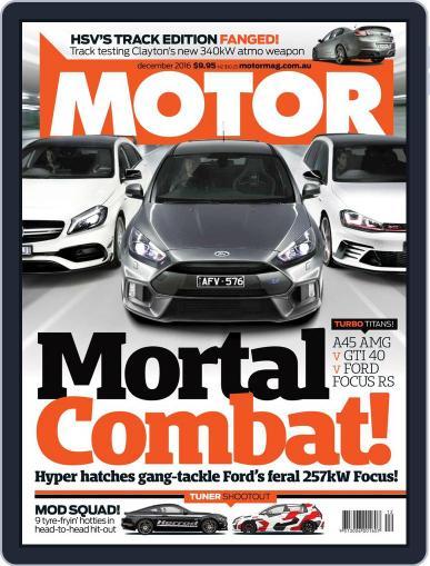 Motor Magazine Australia (Digital) December 1st, 2016 Issue Cover