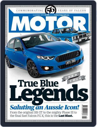 Motor Magazine Australia (Digital) November 1st, 2016 Issue Cover