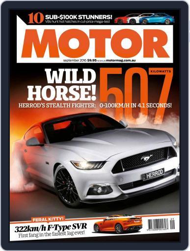 Motor Magazine Australia (Digital) September 1st, 2016 Issue Cover