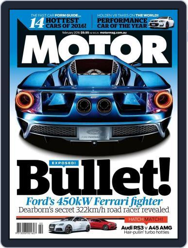 Motor Magazine Australia January 6th, 2016 Digital Back Issue Cover