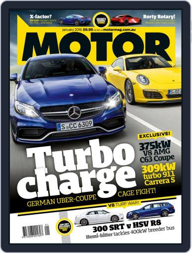 Motor Magazine Australia (Digital) December 4th, 2015 Issue Cover