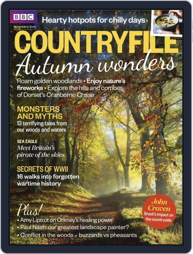 Bbc Countryfile (Digital) November 1st, 2016 Issue Cover