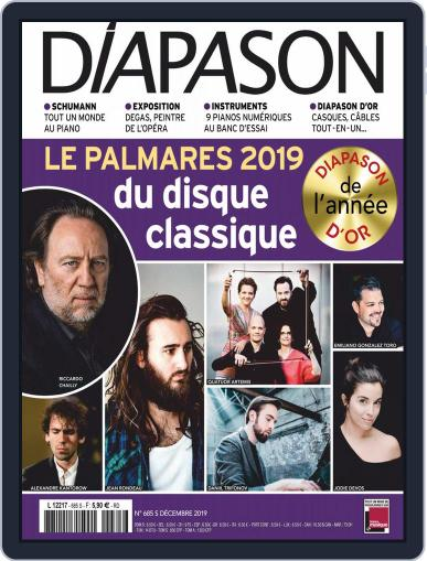 Diapason (Digital) December 1st, 2019 Issue Cover