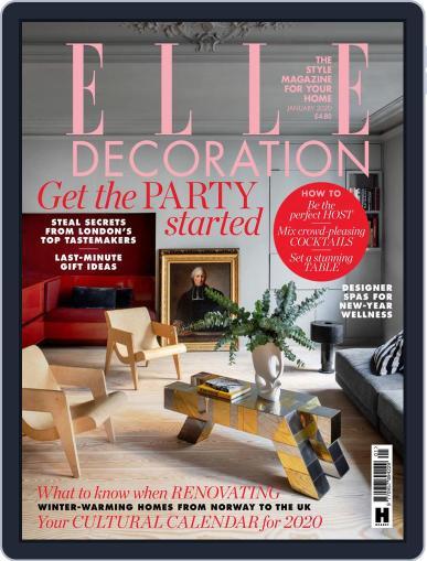 Elle Decoration UK (Digital) January 1st, 2020 Issue Cover