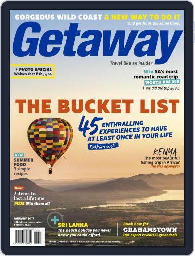 Getaway (Digital) January 1st, 2017 Issue Cover
