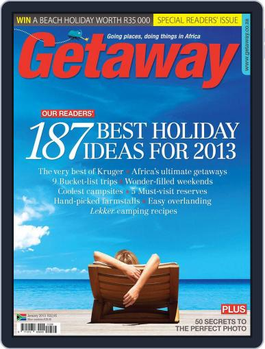 Getaway (Digital) January 1st, 2013 Issue Cover