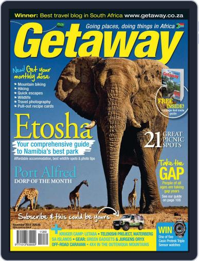 Getaway (Digital) November 1st, 2010 Issue Cover
