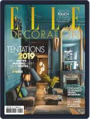 Elle Décoration France (Digital) Subscription January 1st, 2019 Issue