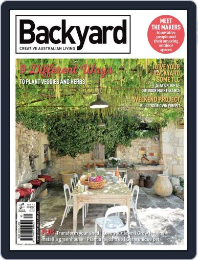 Backyard and Outdoor Living March 1st, 2018 Digital Back Issue Cover