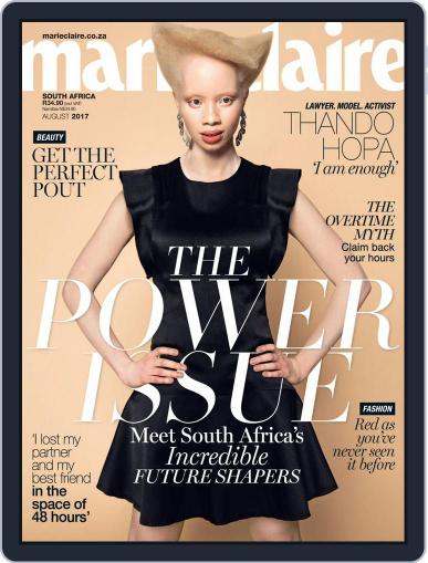Marie Claire South Africa August 1st, 2017 Digital Back Issue Cover