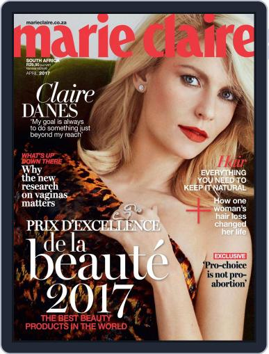 Marie Claire South Africa April 1st, 2017 Digital Back Issue Cover