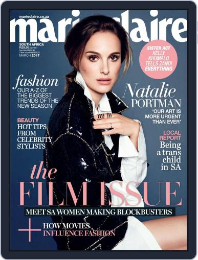 Marie Claire South Africa March 1st, 2017 Digital Back Issue Cover