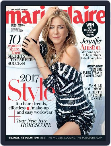 Marie Claire South Africa January 1st, 2017 Digital Back Issue Cover