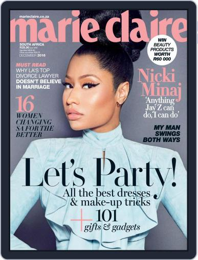 Marie Claire South Africa December 1st, 2016 Digital Back Issue Cover