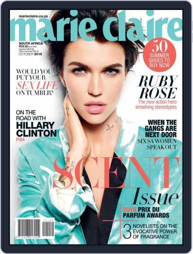 Marie Claire South Africa October 1st, 2016 Digital Back Issue Cover