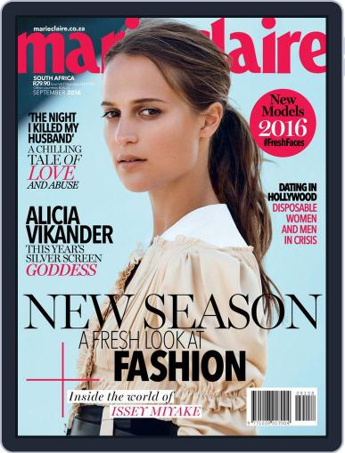 Marie Claire South Africa August 31st, 2016 Digital Back Issue Cover