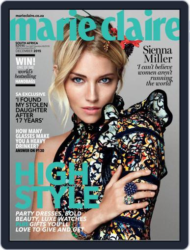 Marie Claire South Africa December 1st, 2015 Digital Back Issue Cover