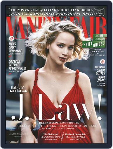 Vanity Fair UK January 1st, 2017 Digital Back Issue Cover