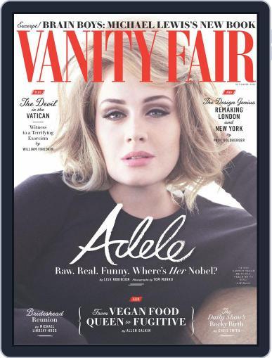Vanity Fair UK December 1st, 2016 Digital Back Issue Cover