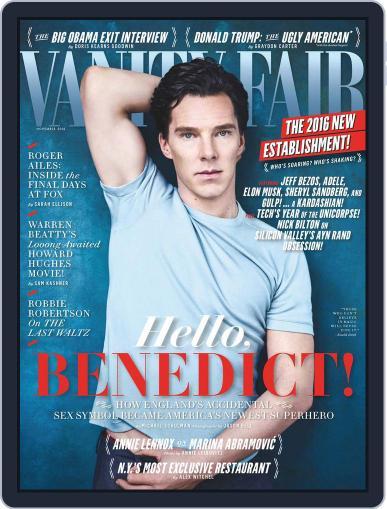 Vanity Fair UK November 1st, 2016 Digital Back Issue Cover