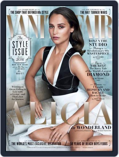 Vanity Fair UK September 1st, 2016 Digital Back Issue Cover