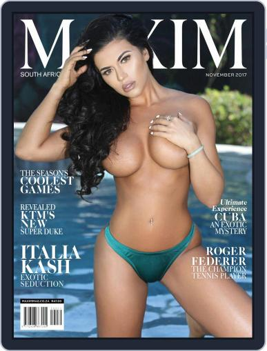 Maxim South Africa (Digital) November 1st, 2017 Issue Cover