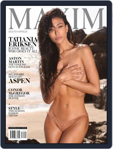 Maxim South Africa (Digital) March 1st, 2017 Issue Cover