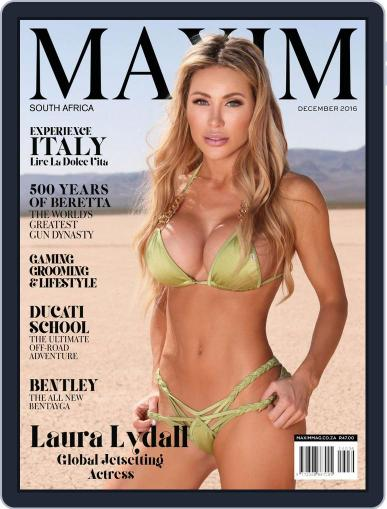 Maxim South Africa (Digital) December 1st, 2016 Issue Cover