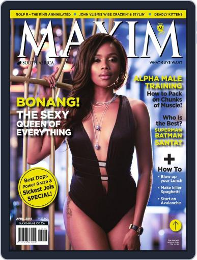 Maxim South Africa (Digital) March 16th, 2014 Issue Cover