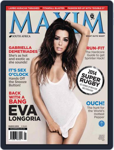 Maxim South Africa (Digital) February 17th, 2014 Issue Cover